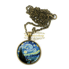 fantastic VAN gogh the starry night necklace, Artistic impression Necklace for