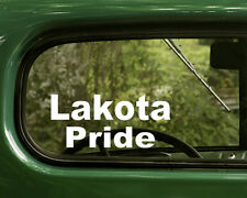 Lakota Pride Decal Sticker (2) Native American Cars Truck, Laptops