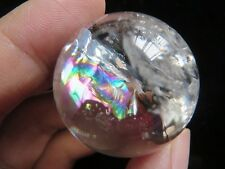 AA  Natural Smoky Clear Quartz Rainbows Ball Crystal Sphere Healing  44g