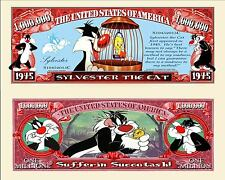 GROSMINET - BILLET MILLION DOLLAR US ! TITI & SYLVESTRE LE CHAT Dessin Animé cat