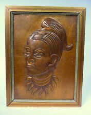 Messingrelief signiert Relief Bronze