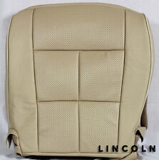 2007-2014 Lincoln Navigator L 4X4 2WD AWD -Driver Bottom Leather Seat Cover TAN*