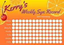 Personalised Weekly Syn Record Chart - Slimmers World - Weight loss 3