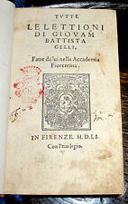 1551 DANTE Post Incunable INFERNO Alighieri OCCULT Divine Comedy PETRARCH Gelli