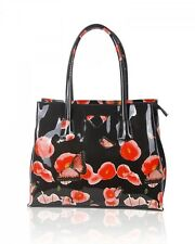 Women's Poppy FLower Patent Designer Butterfly Print Shoulder Bags Bag Handbags