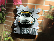 A Trabi breaks through Berlin Wall, Germany Souvenir 3D Resin Fridge Magnet