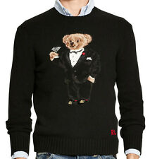 new Polo Ralph Lauren Tuxedo Martini Teddy Bear wool sweater, NWT, mens, XXL