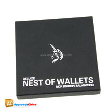 Deluxe Nest of Wallets (Nesting Wallets) by Nick Einhorn Close-Up Magic Tricks
