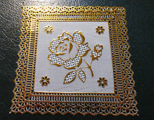 Perfect Gift for Nan or Grandad - Gold and Lace Coaster - Bargain Price!!!!
