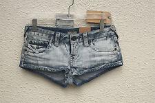 NWT TRUE RELIGION JOEY CUT OFF Size 24 Booty Cut Hot Mini Denim Short Shorts