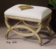 FRENCH COUNTRY STYLE PAINTED FURNITURE VANITY STOOL BED BENCH BEDROOM CHAIR NEW