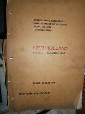 Clayson New Holland moissonneuse 1540 : catalogue de pièces 1973