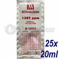 25x 20ml 1382 ppm TDS Calibration Solution, milwaukee/m10032/hanna/hi70032