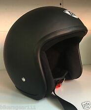 NEW THH MATT BLACK NO STUDS HALF OPEN FACE Helmet SIZE MEDIUM NOW $ 69.99
