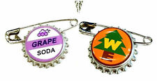 2 pc Disney Pixar Up Grape Soda Bottle Cap Pin Ellie Badge Wilderness Explorer