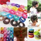 100 Pcs Kids Lady Girls Elastic Rubber Hair Bands Ponytail Holder Head Rope Ties