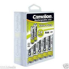 Camelion AAA Ni-CD 300mAh 1.2V Rechargeable Solar Battery 24 Pack