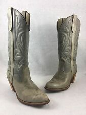 Women's Size 7 M CAPEZIO Gray Leather COUNTRY WESTERN Style COWBOY BOOTS 13987