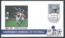 1993 ITALIA BUSTA SPECIALE COPPA DEL MONDO CALCIO SVIZZERA ITALIA - EDG6