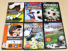 6 PC SPIELE SAMMLUNG FUSSBALL MANAGER ANSTOSS TRAINER -- FIFA FOOTBALL (13 14)