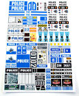 CUSTOM POLICE STICKERS LOT for MODELS, TOYS, SETS 8665, 7034, 7237, 7743, ETC