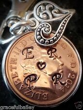 Love token 24th Wedding Anniversary Personalised Copper Gift Penny Vintage.