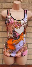 DOROTHY PERKINS LILAC PINK ORANGE VBAROQUE SILKY FEEL TUNIC CAMI BLOUSE TOP 8 S