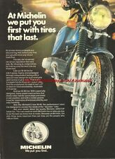 Michelin M-38 Tires Motorcycle 1979 Magazine Advert #2120