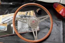 "Mountney Wood Rim 15"" Polished Steering Wheel (Riveted)"