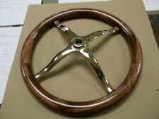 MODEL T FORD NEW  POLISHED BRASS SPIDER STEERING WHEEL WITH HAHOGANY RIM SALE