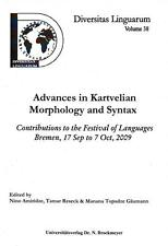 ADVANCES IN KARTVELIAN MORPHOLOGY AND SYNTAX
