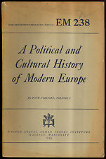 war Dept  EM 238 A Political and Cultural History of Modern Europe 1944 C Hayes