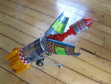 Antique tin space toy vintage Japan Battery Operated rocket