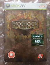 BRAND NEW FACTORY SEALED BIOSHOCK LIMITED STEELBOOK XBOX 360 TIN CASE