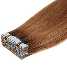 40Pcs Seamless Tape In Skin Weft 100% INDIAN Remy Human Hair Extensions16-24Inch