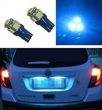 2pcs Aqua Blue 5 LED Car License Plate Tag Light T10 158 168 194 2825 921Bulb H6