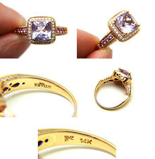 Le Vian Cotton Candy Amethyst Pink Sapphire White Diamond 14k Rose Gold Ring