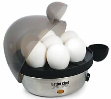 Stainless Steel Electric Egg Cooker Hard Boiled Soft Medium Boiler FREE SHIPPING