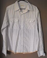 BKE The Buckle Pinstripe Button front shirt size L mens
