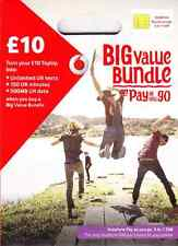 UK Vodafone Official Pay As You Go SIM Card with £15 (3-in-1 SIM for all phones)