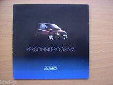 Fiat Personbilprogram (Seicento, Punto, Coupe, Barchetta...) Prospekt, 2002?, DK