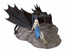 GAME OF THRONES DAENERYS & DROGON STATUE STATUETTE DARK HORSE 18 x 8 x 23cm