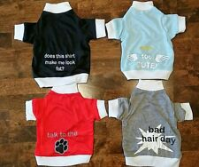 Set of 4 Small Dog Shirts / clothes ( lot) Yorkie / Chihuahua size