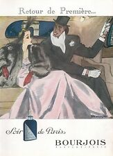▬► PUBLICITE ADVERTISING AD PARFUM PERFUME Soir de Paris BOURJOIS Pierre Mourgue