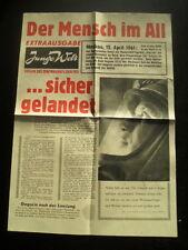 Extraausgabe Junge Welt - Der Mensch im All - 1961 Juri Gagarin - Sehr selten!