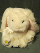 "Russ Jellybean White Bunny Rabbit Pink Easter 8"" PLUSH STUFFED ANIMAL LOVEY TOY"