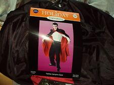 Halloween Costume Tafetta VAMPIRE CAPE ADULT size