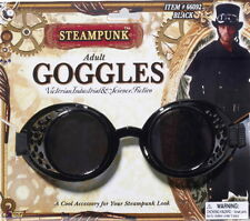 SteamPunk Cosplay Victorian Style Black Industrial Goggles, NEW UNUSED