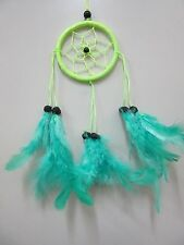Small Nylon Green Coconut Bead 6cm Web Dream Catcher 32 cm Total Length