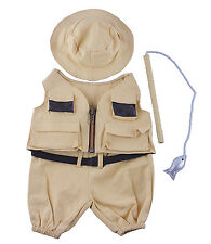 """Fisherman w/Hat n Pole Outfit Teddy Bear Clothes Fit 14""""-18"""" Build-A-Bear n More"""
